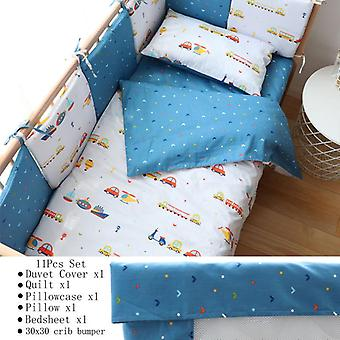 Baby Bedding Set,  Nordic Cotton Woven Baby Bed- Linen For Newborns Kid Crib