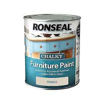 Ronseal Chalky Furniture Paint Pebble 750ml RSLCFPP750