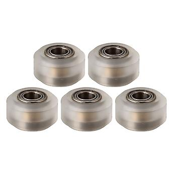 5 Pieces 3D Printer MK8 Extruder Pulley Bearing Big Wheel Chrome Color