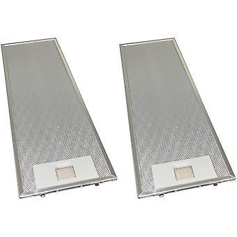 2 x Universal Cooker Hood Metal Grease Filter 159mm x 508mm