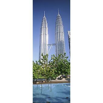 Malaysia Kuala Lumpur View of Petronas Twin Towers Poster Print