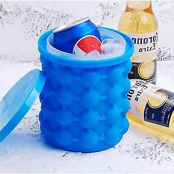 Large Silicone Ice Cream Bucket Mold With Lid Space Saving Cube Maker