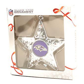 بالتيمور الغربان NFL جامعي الرياضة سلسلة الفضة نجمة زخرفة