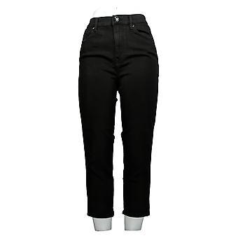 DG2 af Diane Gilman Women's Jeans Black 5-Pocket Cotton Beskåret 673-184