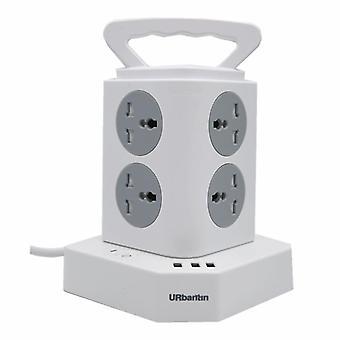 Intelligens elosztó USB töltővel 8 fali foglalat 3 USB port Fehér