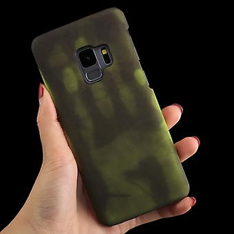 Voor Galaxy S9 Paste Skin + PC Thermal Sensor Discoloration Protective Back Cover Case (Fluorescent Green)