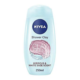 Nivea Clay Fresh Hisbiscus & White Sage Shower Gel