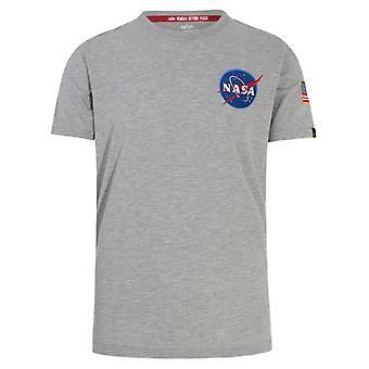 Alpha Industries 17650717 Men's Grey Cotton T-shirt