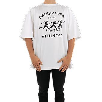 Balenciaga XL Athletes T-Shirt White 641614TJVK69040 Top