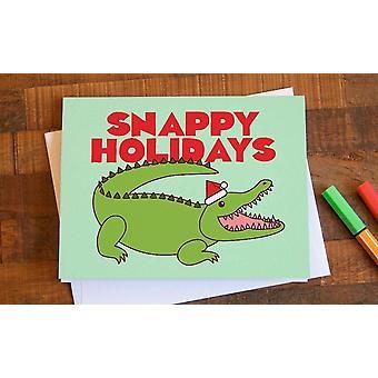 Funny Alligator Christmas Card