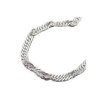 Halskjede Singapore Kjede Sølv 925 60cm