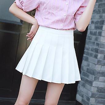 Tartan kobiety spódnica sexy plaid plisowana moda mini taniec strona guzik wysoka talia