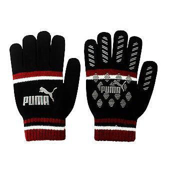 Puma Cat Magic Big Logo Talvi Miesten hanskat Musta Punainen 041678 03