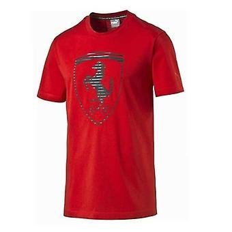 Puma SF Ferrari Big Shield Rosso Corsa Miesten Miehistö Puuvilla T-paita 570681 02 RW30