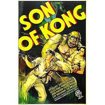 O filho de Kong de esquerda Robert Armstrong Helen Mack 1933 filme Poster Masterprint