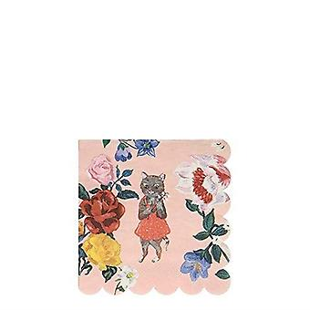Meri Meri Nathalie Lete Flora Cat Small Paper Party Napkins x 20
