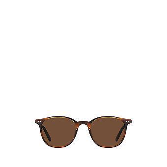Garrett Leight BEACH SUN matte mahogany-gold unisex sunglasses