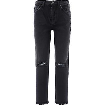 Boyish 102141 Women's Black Cotton Jeans