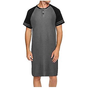 Men Sleepwear Long Nightshirt