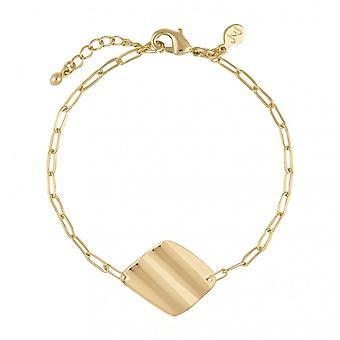 Joma smykker Amara Guld Ripple Guld 18cm + 3cm Extender armbånd 4467