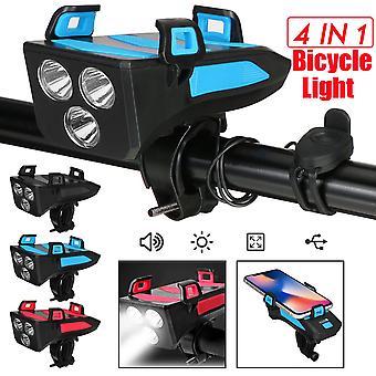4 In 1 bicicletta bicicletta leggera impermeabile con porta telefono corno bici power bank