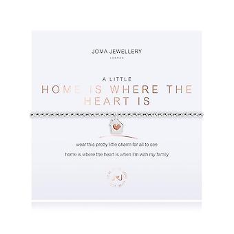 Joma Jewellery A Little Home é onde o coração é prata rosa ouro 17.5cm pulseira de estiramento 3206