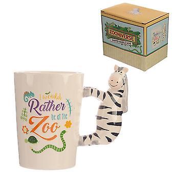 Collectable shaped handle mug - zebra