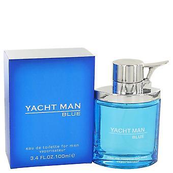 Yacht Man Blue Eau De Toilette Spray By Myrurgia 3.4 oz Eau De Toilette Spray