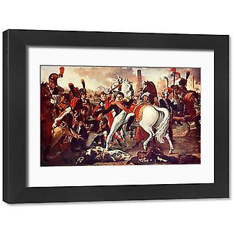 Napoléon Bonaparte Napol. Grande photo encadrée. Napoléon Bonaparte Napol blessevant Ratisbonne /.