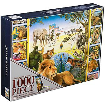 Animalia Book Cover 1000 piece Collector Jigsaw Puzzle