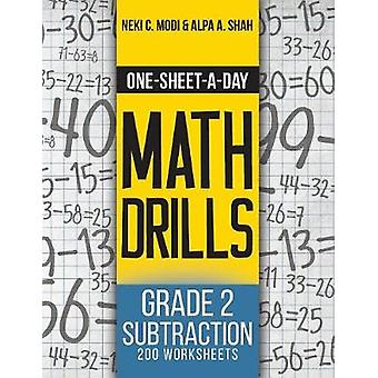One-Sheet-A-Day Math Drills - Grade 2 Subtraction - 200 Worksheets (Bo