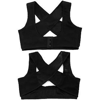 Women Adjustable Elastic Back Support Belt Chest Posture Corrector