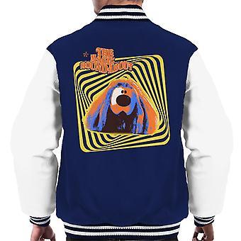 The Magic Roundabout Retro Psychedelic Dougal Men's Varsity Jacket