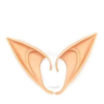1pair Halloween Latex Elf Ears High Simulation Soft Harmless False Ears Props