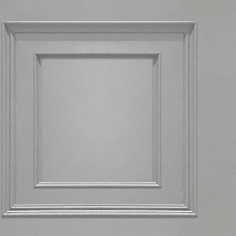Oliana Grey Panel Wallpaper