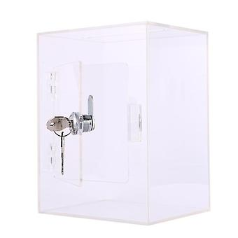 Acryl suggestie box met slot transparante fondsenwerving doos met sleutelslot