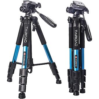 DZK Compact Tripod Portable Travel Lightweight Tripod with Pan Head and Quick Release Plate for