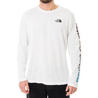 T-shirt homme le visage nord ls flux graphique nf0a4927la9