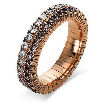 Anel de Diamante - 18K 750/- Ouro Vermelho - 1,79 ct. - 1N702R853 - Largura do anel: 53