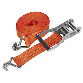 Sealey Td3008J Ratchet sitoa 50 Mm X 8Mtr Polyester vyöt 3000Kg kuormituskokeella