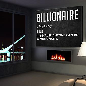 Milliardär Leinwand