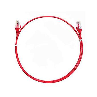 8Ware Cat6 Ultra 25Cm Thin Slim Cable Red