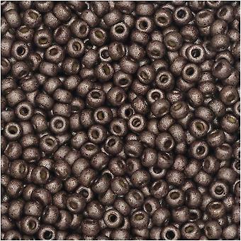 ميوكي جولة البذور الخرز، 11/0، 8.5 غرام أنبوب، #4213F ماتي دوراكوت المجلفن الظلام ماوف