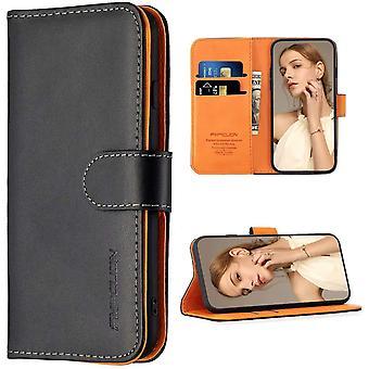 FengChun Hülle Case Kompatibel mit Samsung Galaxy A21 - Premium PU Leder Brieftasche Handyhülle -