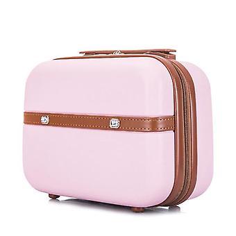 Bolsa cosmética profesional mujeres organizadora de maquillaje de gran capacidad Clapboard cosmetic bag (rosa)
