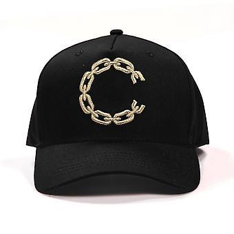 Crooks & Castles C Chain Snapback Cap Black Gold
