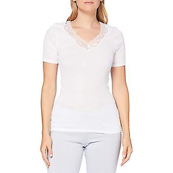 Hanro Lace Delight Shirt 1/2 Arm T, White (White 0101), 48 Woman