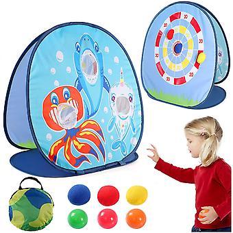 FengChun 1pc Beanbag Werfen Spiel werfen Spiel für Kinder Garten Spielzeug Schark Spielzeug Karneval Party im Freien