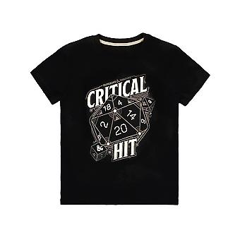 Men's Dungeons & Dragons Critical Hit Black Crew Neck T-Shirt