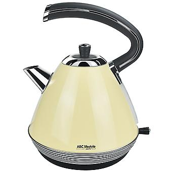 Vintage-1,7L Electric Kettle-Quick-Boiling-Stainless Steel-Beige